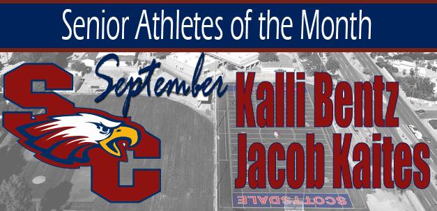 Kalli Bentz and Jacob Kaites are the September Senior Athletes of the Month!