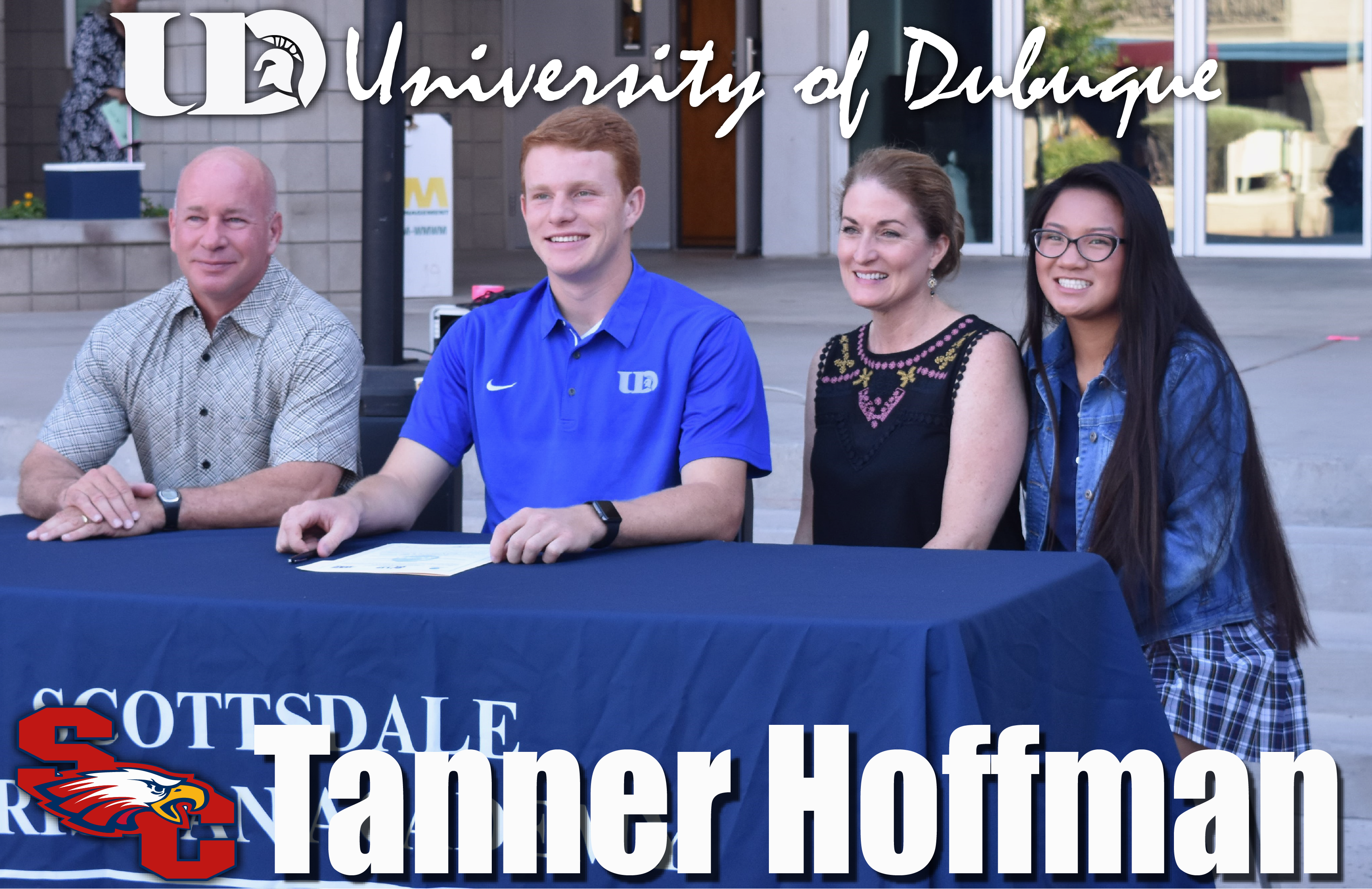 Senior Tanner Hoffman Signs with University of Dubuque to Play Two Sports!