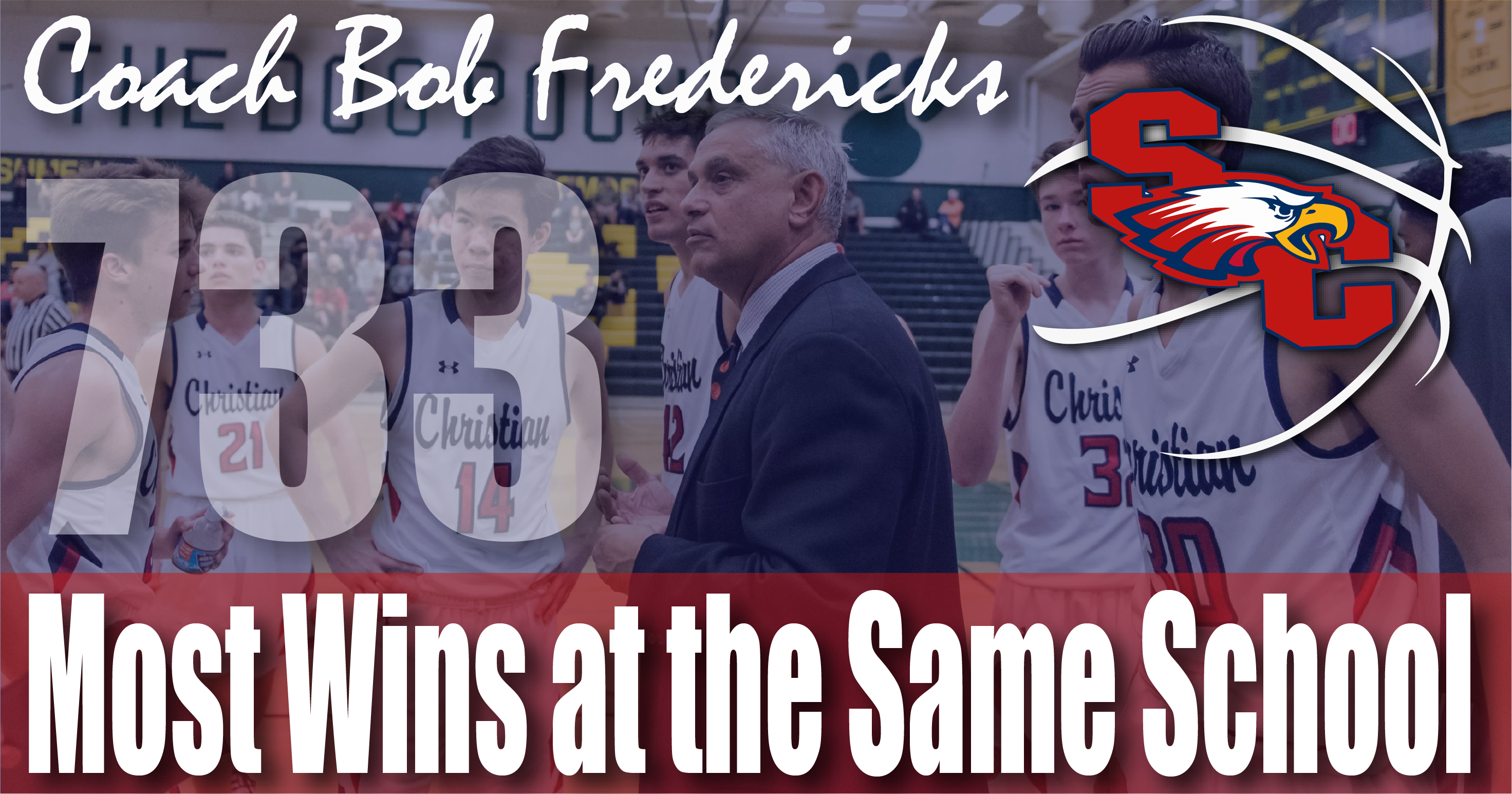 SCA Basketball's Coach Fredericks Holds Record for Most Wins at a Single School