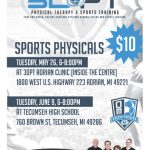 3DPT Sports Physicals for the 2015-2016 School Year