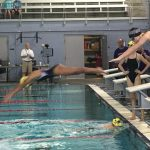 Denton Bronco Swim Team defeats Sherman