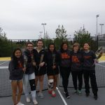Silverton High School Girls Varsity Tennis beat Woodburn High School 8-0