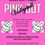 Volleyball Hosting Pink Out