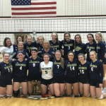 Niles High School Girls Varsity Volleyball beat Edwardsburg at Allegan 3-2