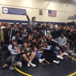 Varsity Wrestling beats Lakeshore 44 – 24 to win the District Title.