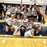 Niles Varsity Volleyball Defeats Powerhouse South Bend St. Joe in 5 Set Thriller