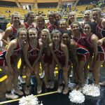 HHS Cheerleaders Support Basketball at Regional Tournament