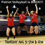 Homewood Volleyball First Home Game Thursday @ 5 and 6