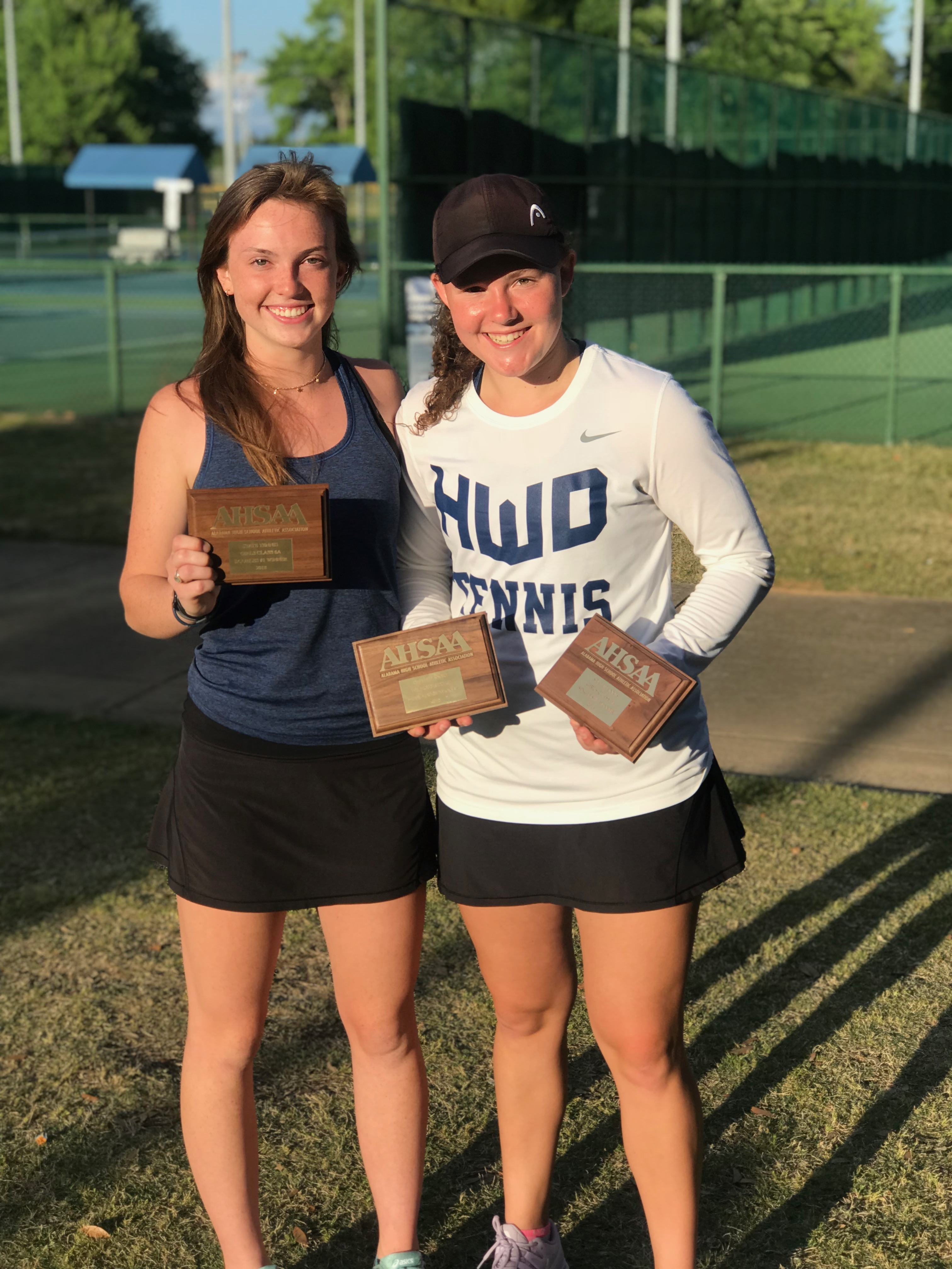 Patriots White And Farrell win the 2018 6A Tennis Doubles State Championship