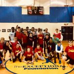 Patriot Boys Basketball sharing their skills at the Exceptional Foundation @HomewoodSchools @HOMEWOOD_HOOPS @hwdstar