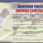 Homewood K-6 Football Camp July 25 & July 26