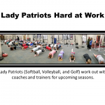 Lady Patriots Hard at Work