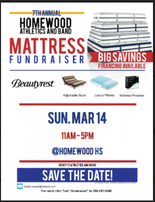 Band and Athletic Mattress Fundraiser scheduled for March 14th