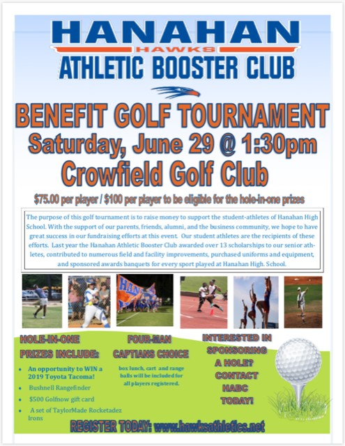 Don't Forget to sign up for HABC Golf Tournament, June 29th!