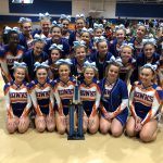 Girls Varsity Competitive Cheer finishes 1st place at Patriot Cheer Classic