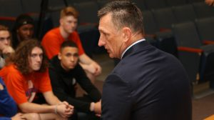 1.29.2020 (PHOTO GALLERY):  Hanahan Varsity FB Names Art Craig New Head FB Coach; Meets with players & media/Photos by Cyril Samonte