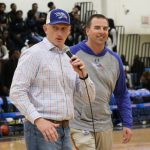 2.7.2020 (Photo Gallery):  New Hanahan Varsity Football Head Coach Art Craig Addresses Fans & Students at Basketball game/Photos by Cyril Samonte