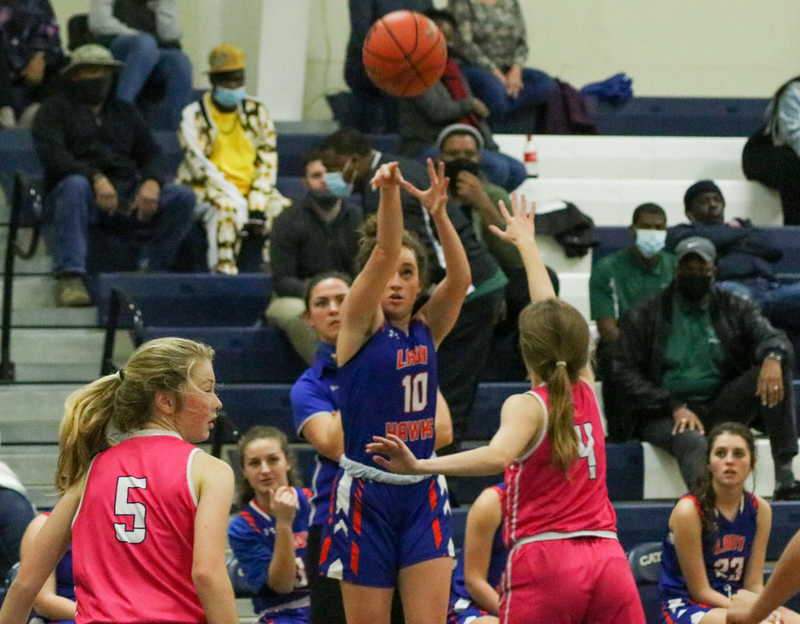 1.15.2021 (PHOTO GALLERY):  Hanahan Varsity Girls BKB @ Cathedral Academy – Photos by Cyril Samonte