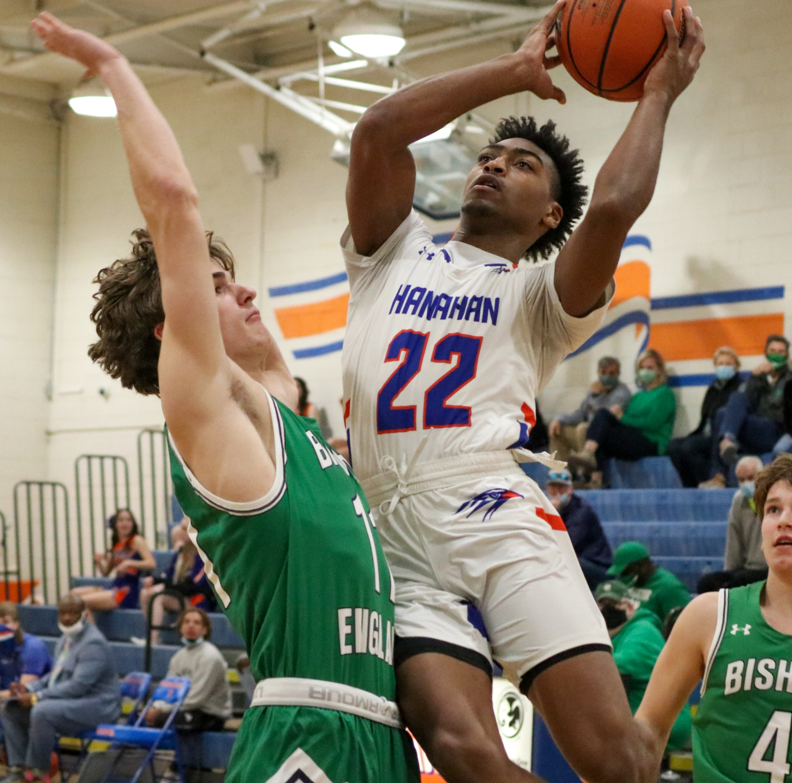 1.18.2021 (PHOTO GALLERY): Hanahan Varsity Boys BKB vs Bishop England HS – Photos by Cyril Samonte