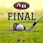 Boys Varsity Golf beats West Ashley 181 – 207