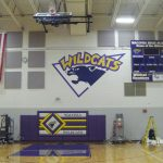 Check it out — Large Wildcat Logo added to gymnasium