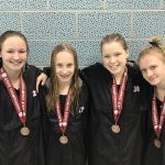 Waconia High School Girls Varsity Swimming falls to Visitation High School 247-45
