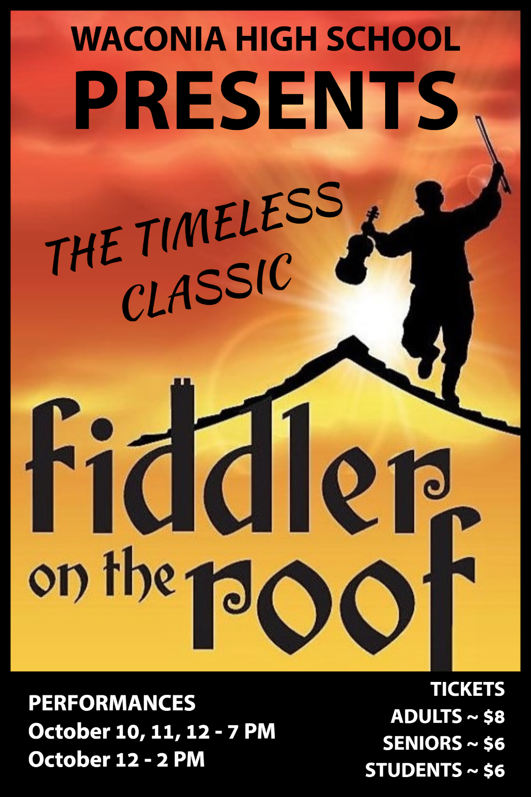 WHS Fall Musical – Fiddler on the Roof