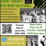 DJHS Men's Volleyball Flyer