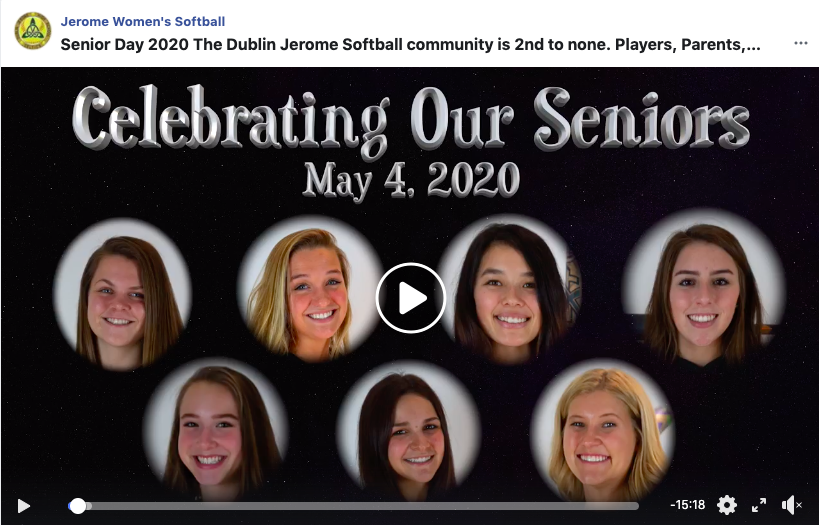 Click HERE to view the Senior Softball Video.