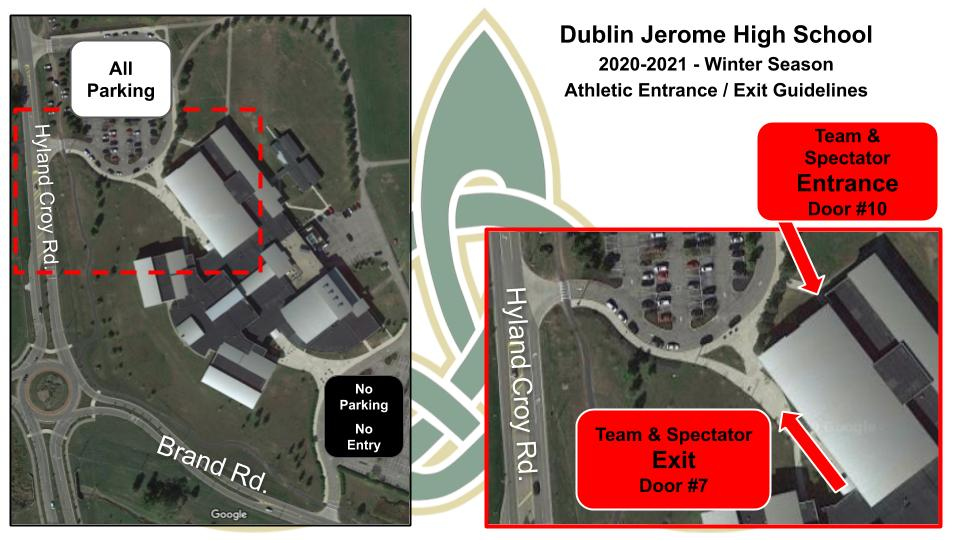 Athletic Entrance and Exit - Winter 2020-2021