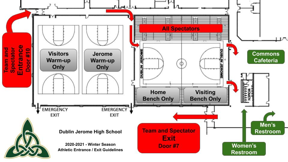 Gymnasium Entrance and Exit - Winter 2020-2021
