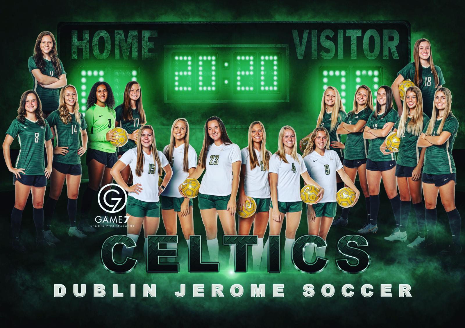 2020-2021 Girls Soccer Team Poster