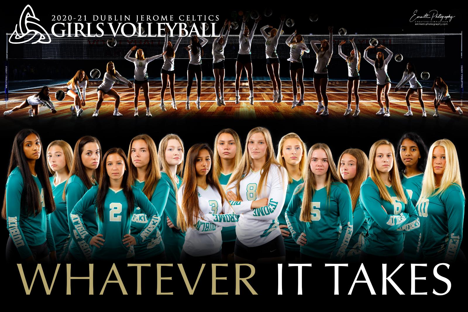 2020-2021 Girls Volleyball Team Poster