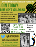 2021 DJHS Mens Volleyball Flyer