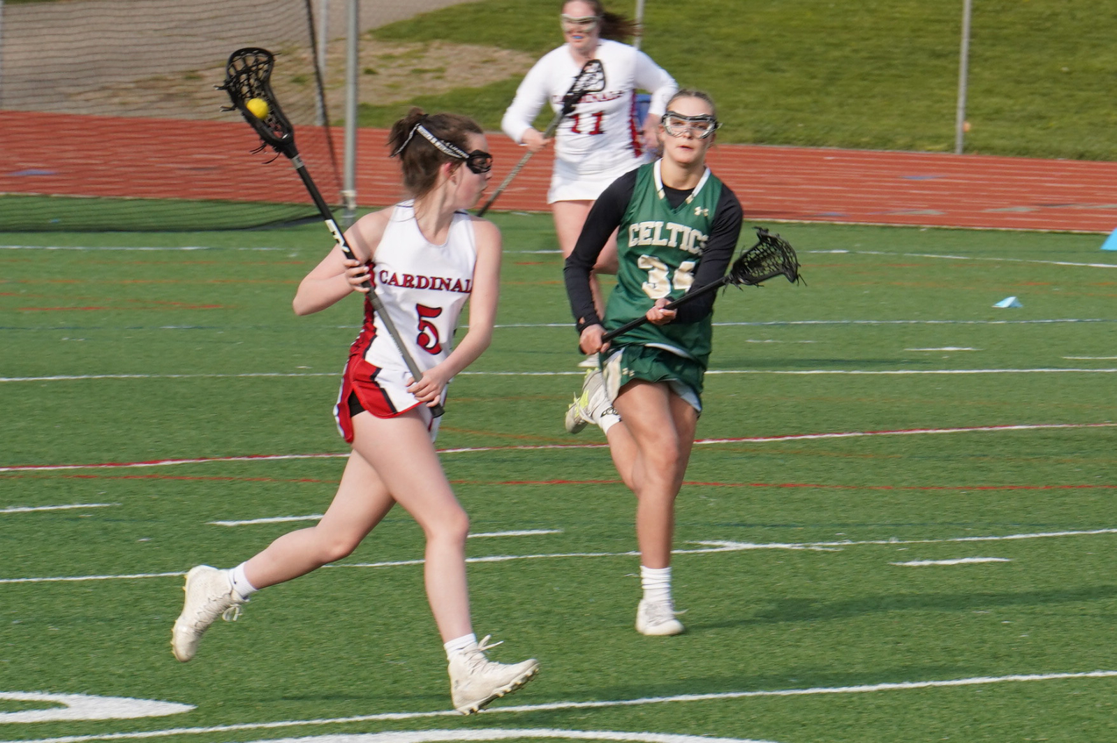 Girls JV lacrosse vs. Thomas Worthington 4/20