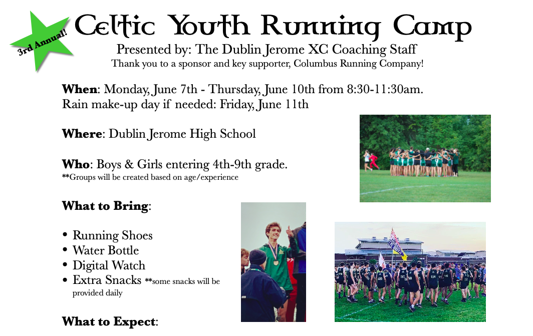 2021 Celtic Youth Running Camp