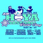 Hoya Baseball Winter Camp (grades 3rd-8th)