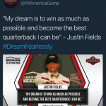 Justin Fields UA All-American