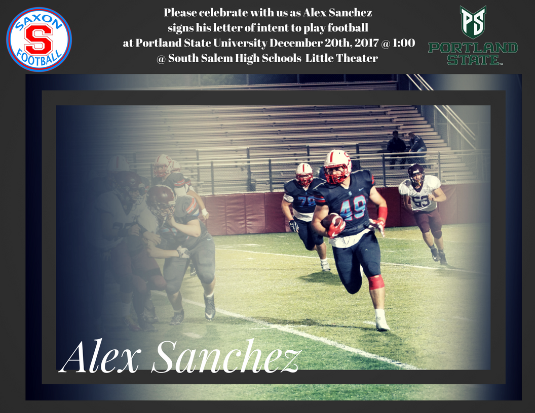 Letter of Intent signing- Alex Sanchez