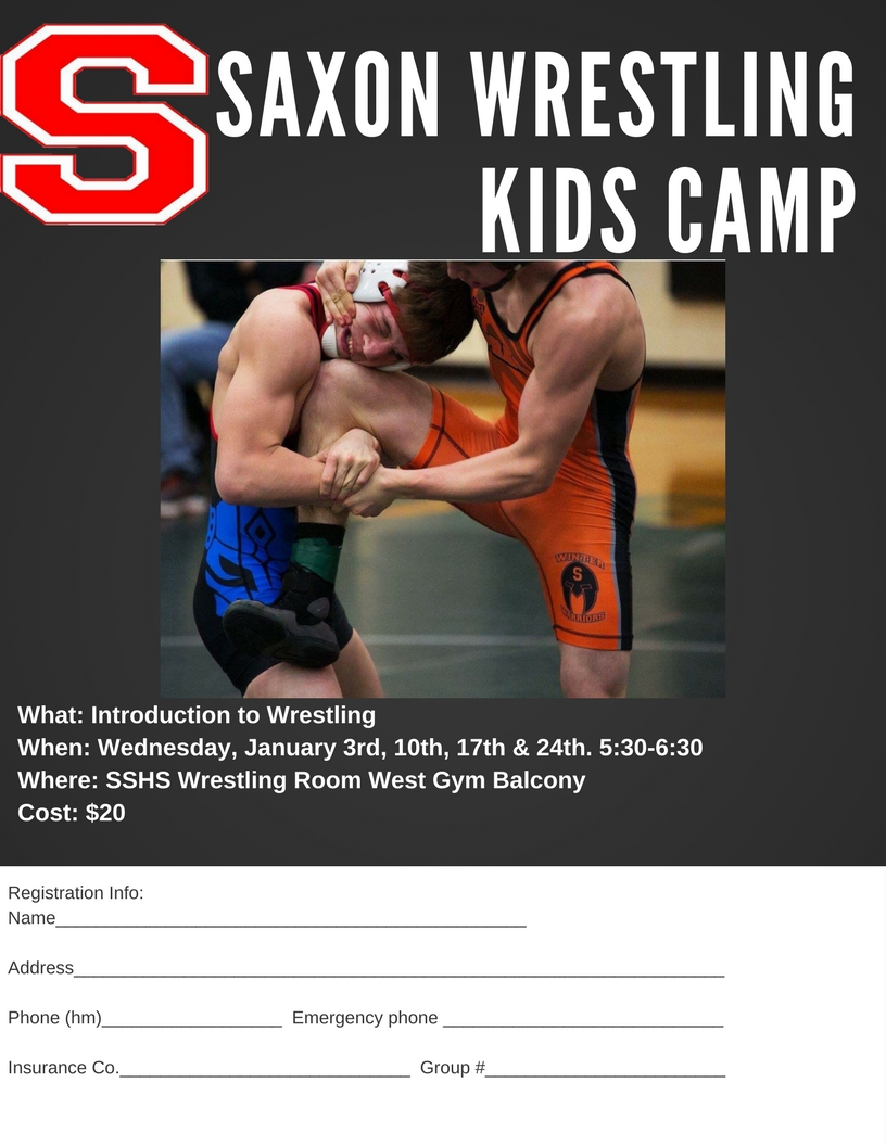 SAXON WRESTLING KIDS CAMP