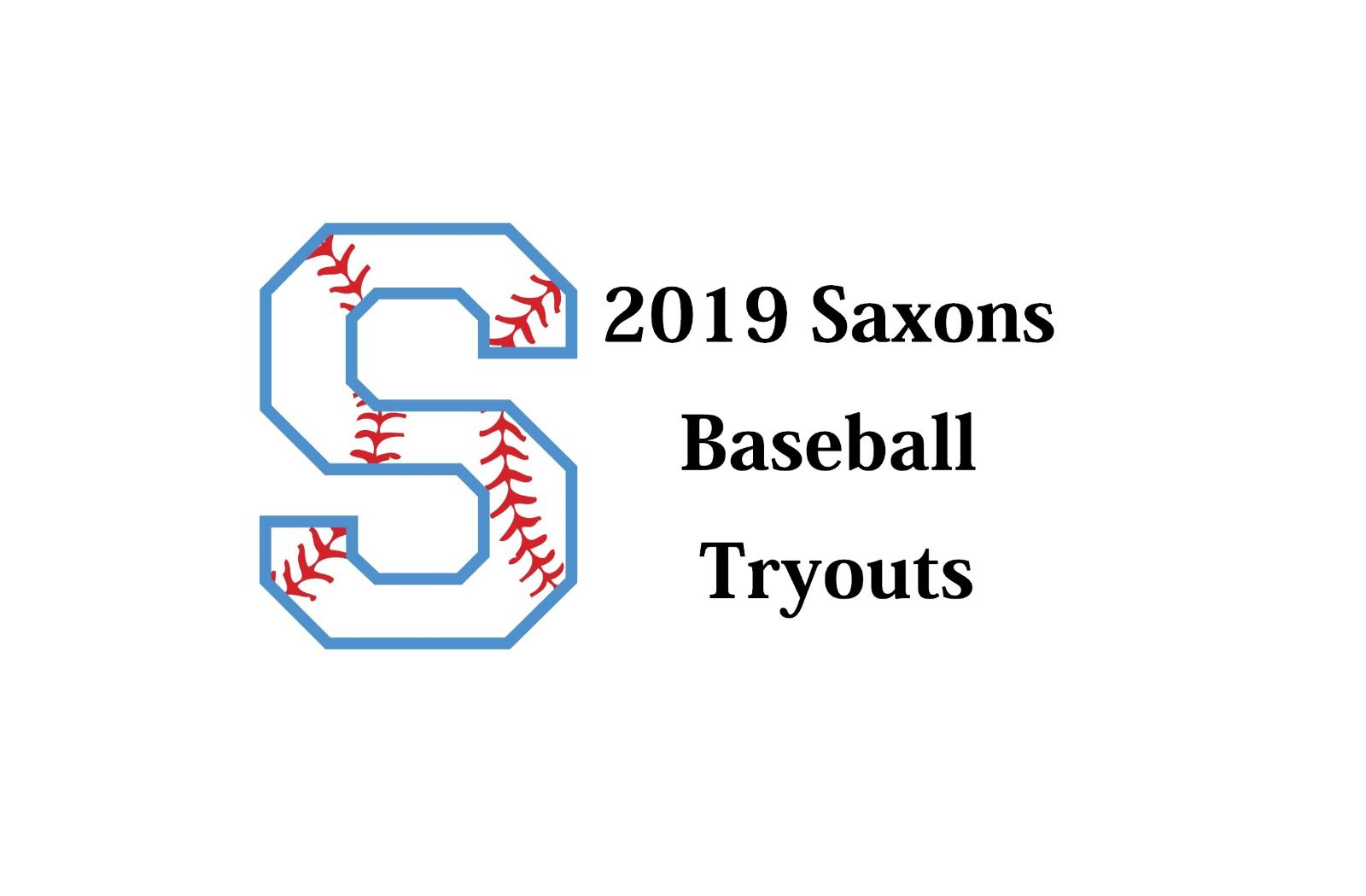 2019 Saxon Baseball Tryouts Information
