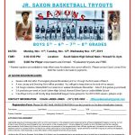 JR Saxons Basketball Tryouts