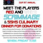 Red and White Scrimmage & SSHS Culinary Dinner