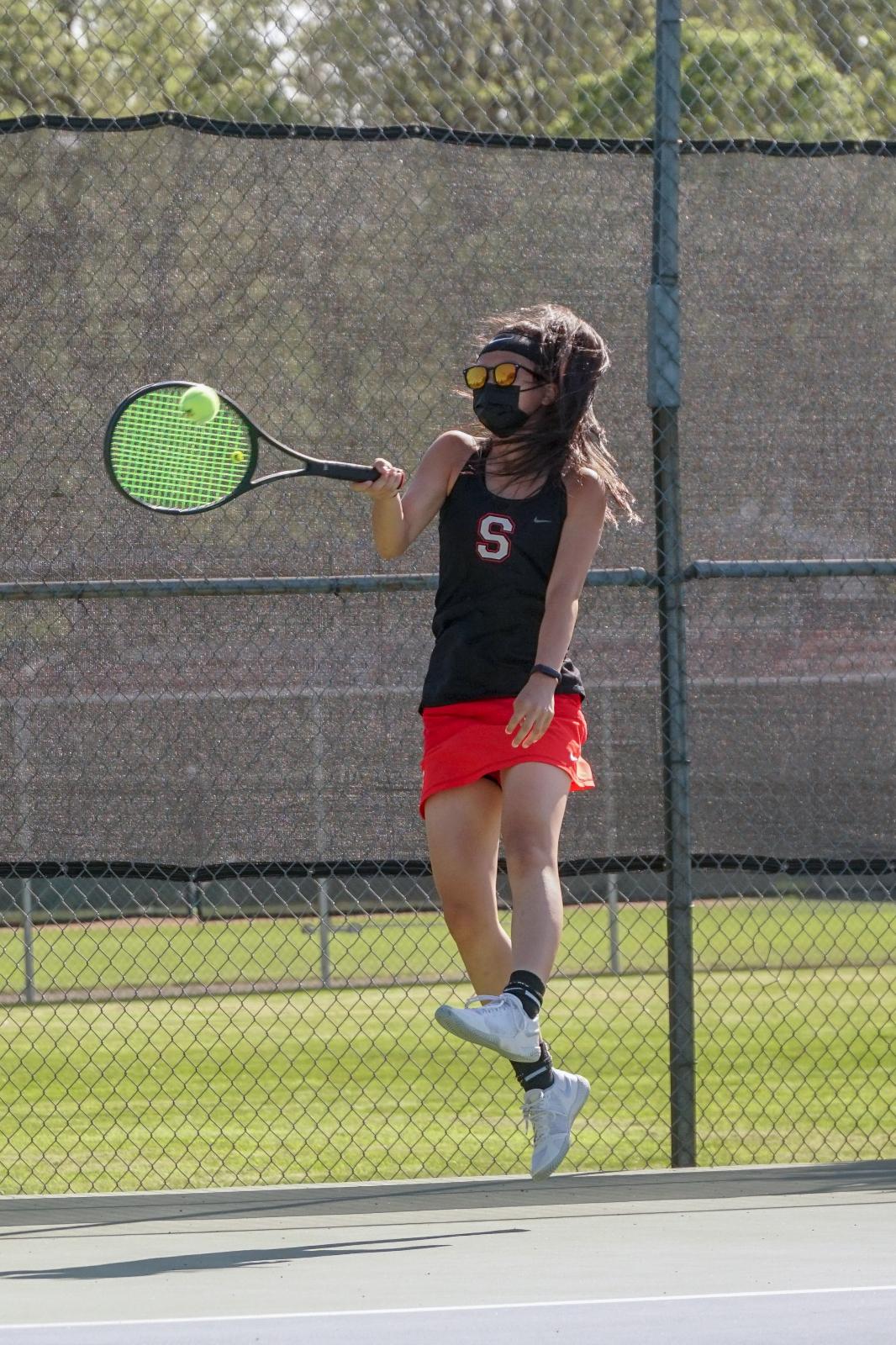 2021 Varsity Girls Tennis vs McNary (singles)