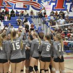 Paloma Valley High School Girls Varsity Volleyball beat Heritage 3-1
