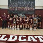Paloma Valley High School Girls Varsity Volleyball beat La Sierra High School 3-1