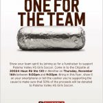 Girls Soccer Chipotle Fundraiser