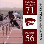 Boys 2018 Track finishes 1st place at Perris