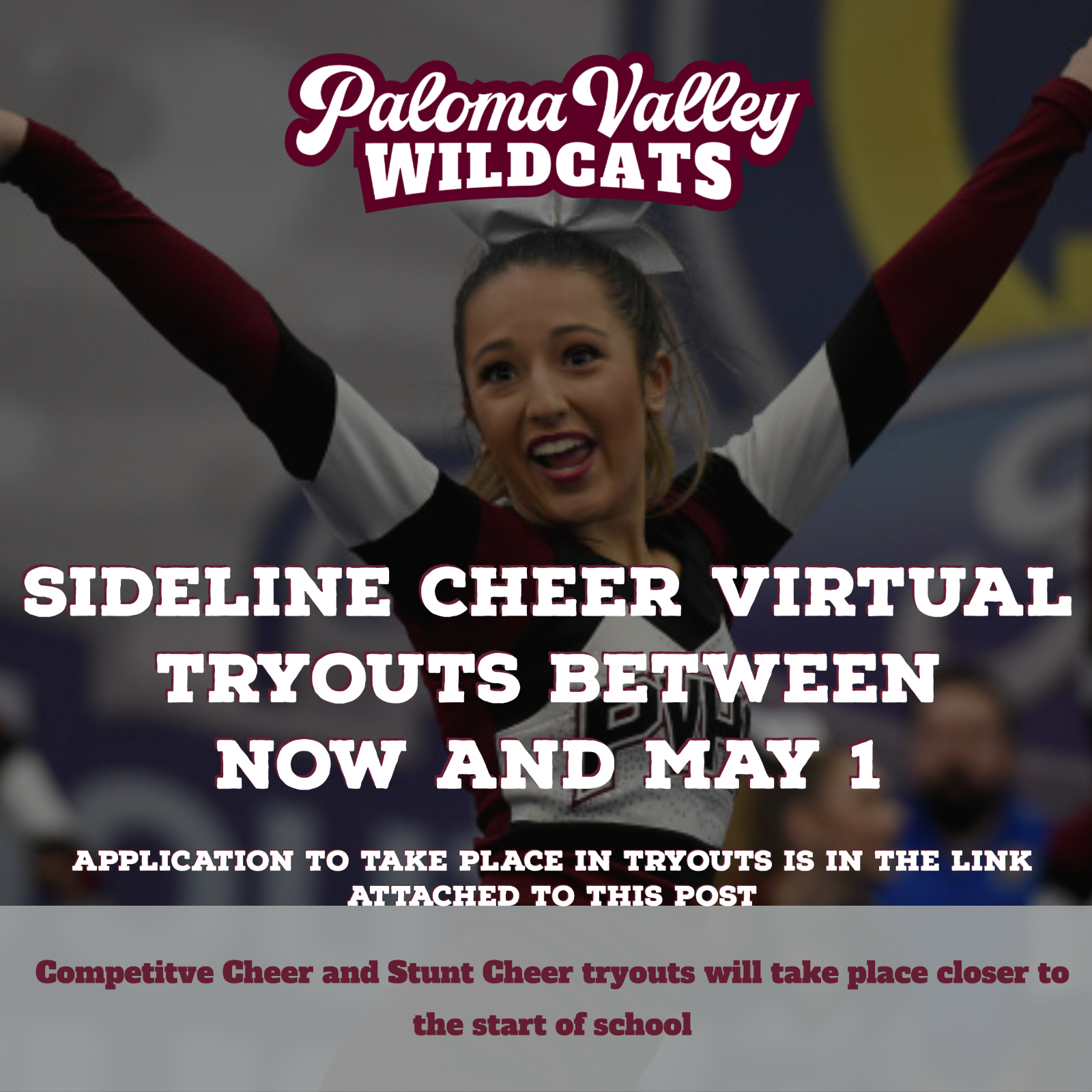 Virtual Sideline Cheer Tryouts
