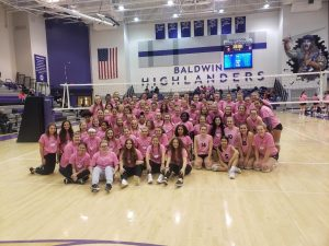 Baldwin Fighting Highlanders Girls Volleyball Highlights – Dig Pink Fundraiser